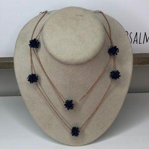 Kate Spade Necklace Rose Gold/ Navy Blue